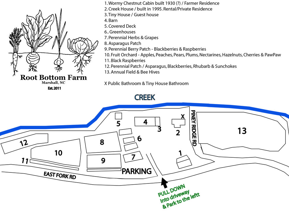 Root Bottom Farm map