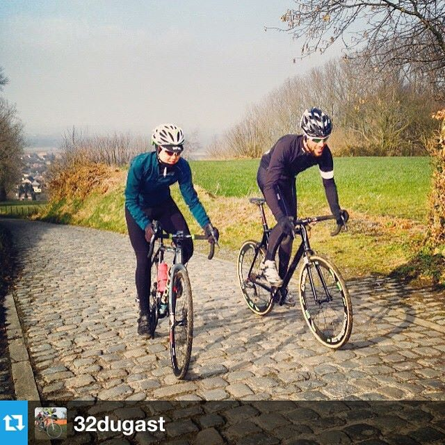 Riding the Koppenberg post skills session