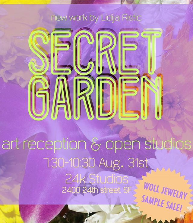 Will we see you at our #openstudios ? Come grag a #drink with us and check out work by @la_la_lidija @woll_jewelry and @marcelapardoa in the #studios where they are made😄 🍹🎨🎵🌌💃 #art #lidijaristic #wolljewelry #marcelapardoariza #localart #sf #themission #event #opening #newartwork #24kstudiospresents #whoruntheworld #femaleartist #jewelry #sfmade #arts
