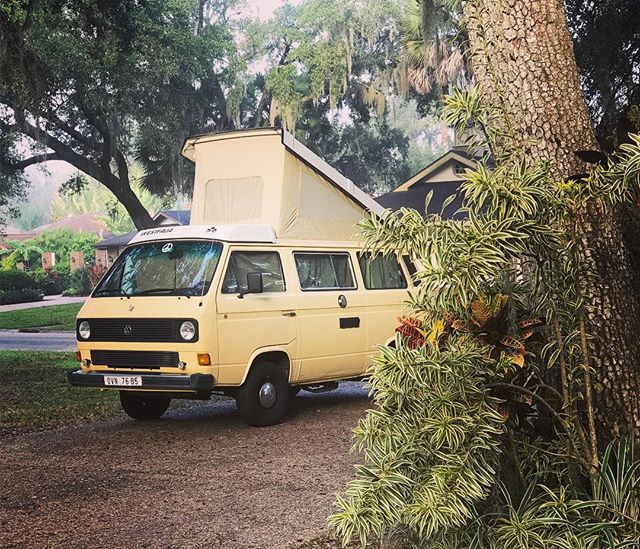 Here we find the Vanagon in its natural habitat. First Road trip NJ to FL made it in one piece #vanlife #vanagon #westfalia