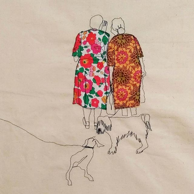 Crushing hard on the incredible textile art of @sewsarahwalton 🙊😍