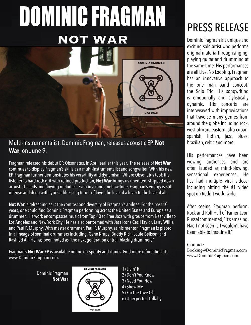 Not War Press Release.jpg