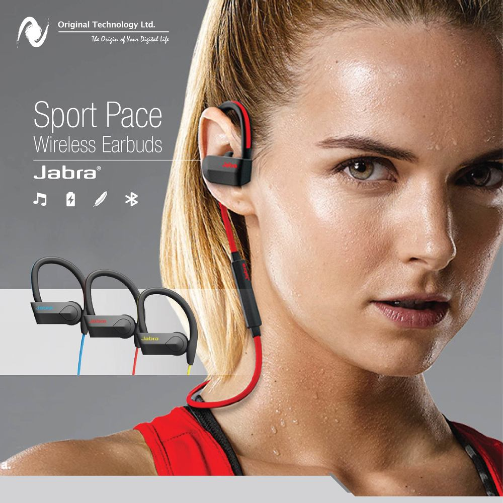 Jabra Sport Pace Original Technology Wireless Earbuds Yellow Jabras Life App To Enhance Your Performance By Following The Training Tips And Guide Provided Available In Three Colors Red