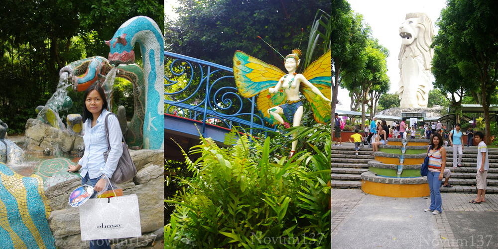 Merlion Singapore. On our way up to the mouth. Water beasts, Butterfly Faeries, and Merlions... Magick is everywhere.