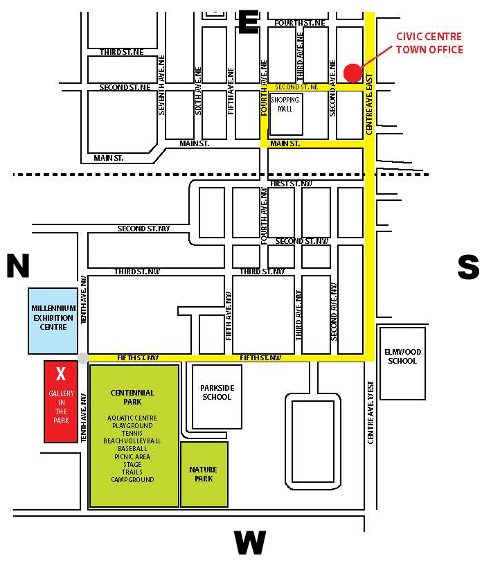 map of altona gallery in the park