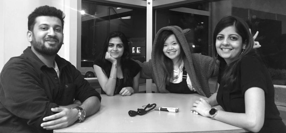 Team Alpha - L-R : Vaibhav Bhanot, Shreya Dhawan, Summer Qiao, Garima Gupta