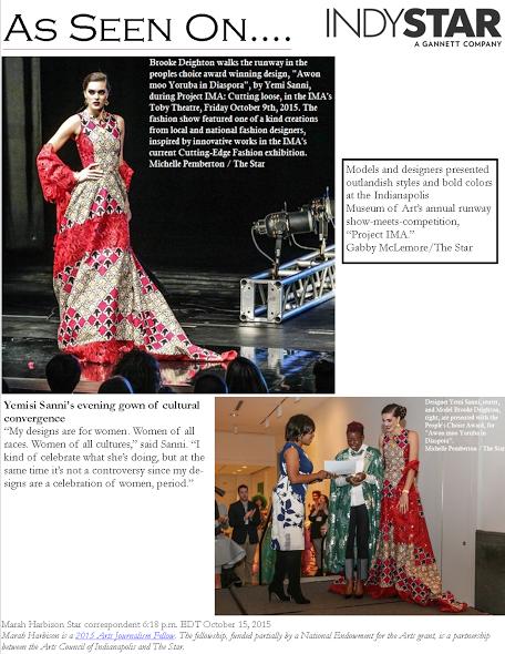 Project IMA: Cutting Loose fashion show