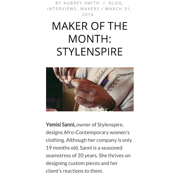 MAKER OF THE MONTH: STYLENSPIRE