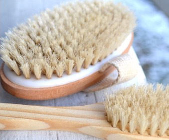 Dry Brushing   Dry brushing involves using a natural brush on dry skin. There are many benefits to dry brushing, including stimulating the lymphatic system, increasing blood circulation, the removal of dead skin, and helps with cellulite. As approximately one-third of the body's toxins are excreted through the skin, dry brushing helps to excrete toxins trapped in the skin.  Sessions available in:  10-15 minute $10