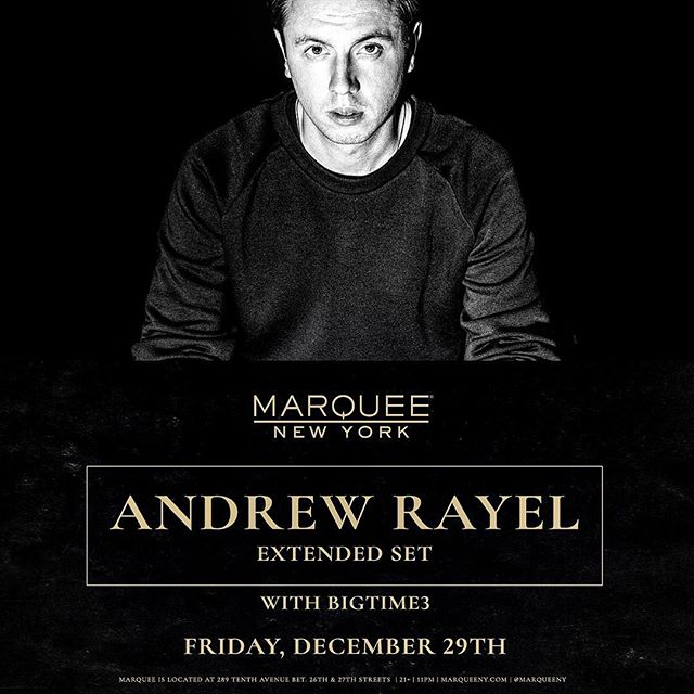 It's official we will be opening up for @andrew_rayel at @marqueeny December 29th to kickoff New Year's weekend! Thank you to everyone for supporting us and we look forward to seeing you all there! #bigtime3 #marqueenyc #418music #wemadeit #howboutdat #decaffinated #murraystreetrecords #westfallrecordings #marquee #nyc