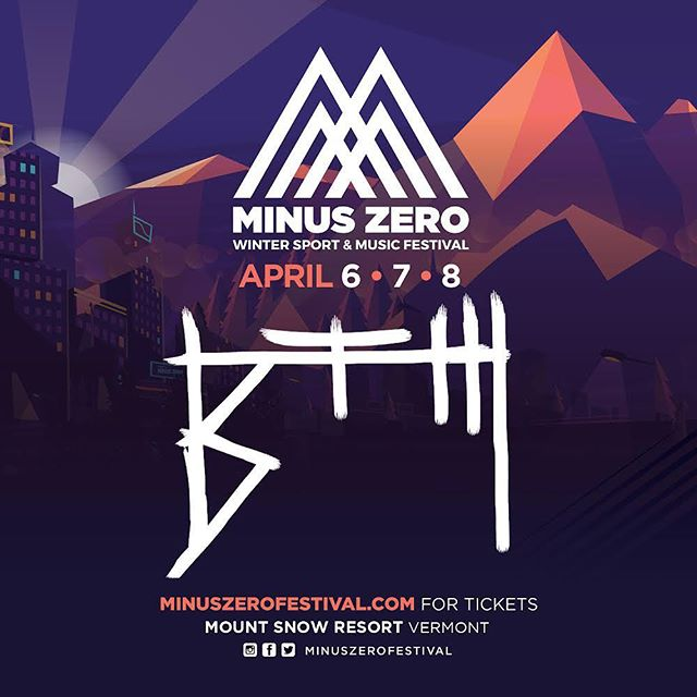 Super excited to be performing at @minuszerofest this weekend! So much talent sharing the stages with us! Can not wait to party with all of you guys! #minuszerofestival #westdover #minuszero2018 #mountsnow