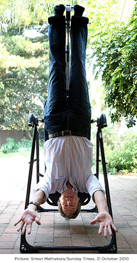 DEREK WATTS OF CARTE BLACHE says:'I can't go a day without doing two headstands. If I don't wake up in the morning and do a headstand, I don't function. And if I don't do one before going to bed, I won't fall asleep.'