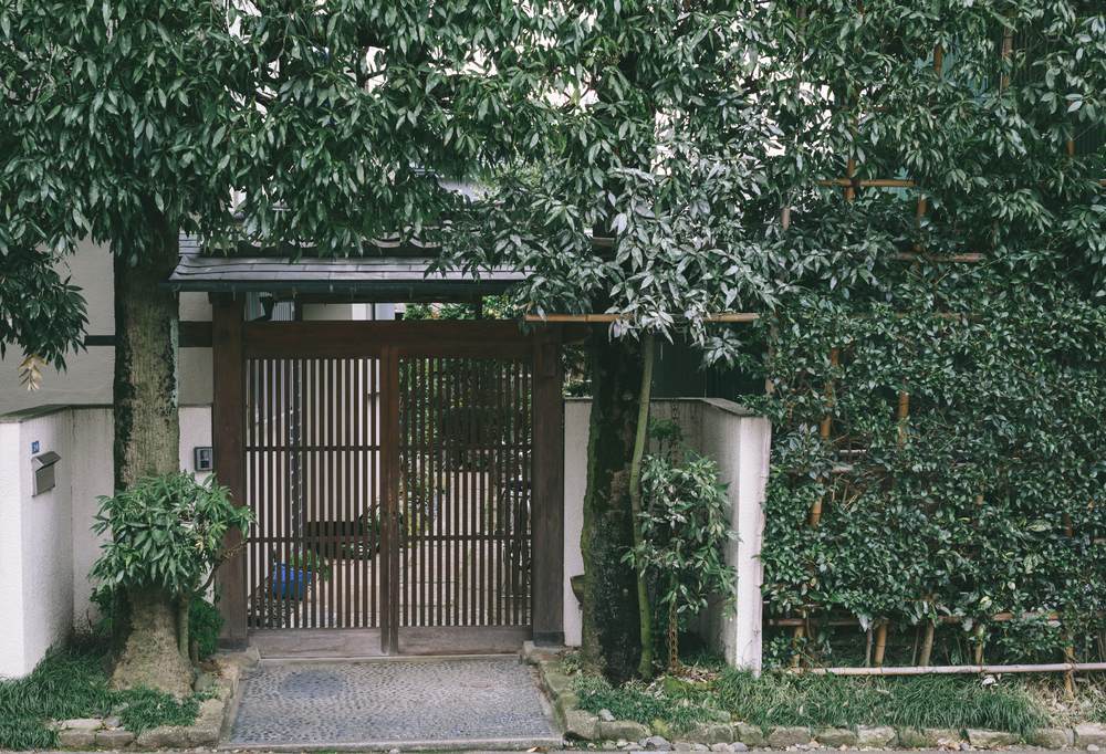 Gates of a house in Yono