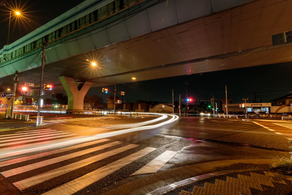 Intersection under Omiya Bypass