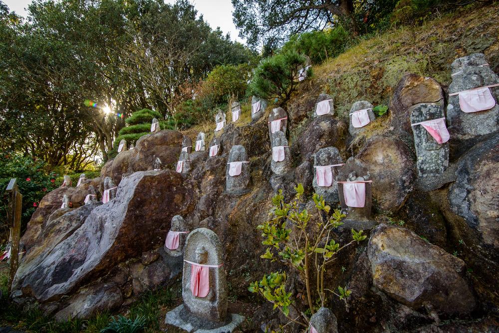 Jizo statues atop of Mt Nesugata - Shimoda