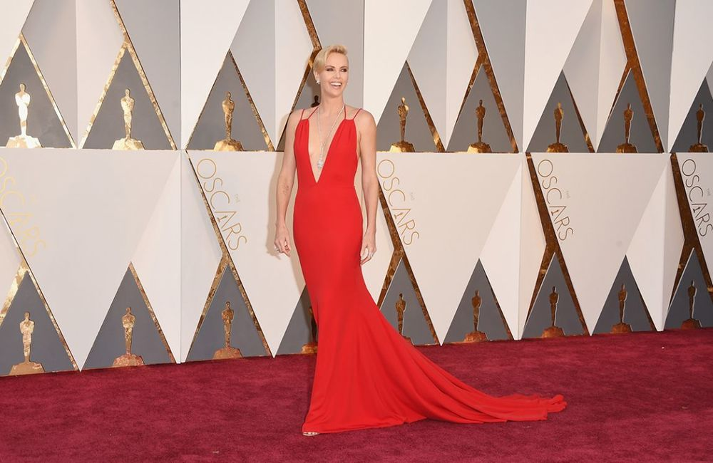 Charlize Theron in a Dior Haute Couture gown
