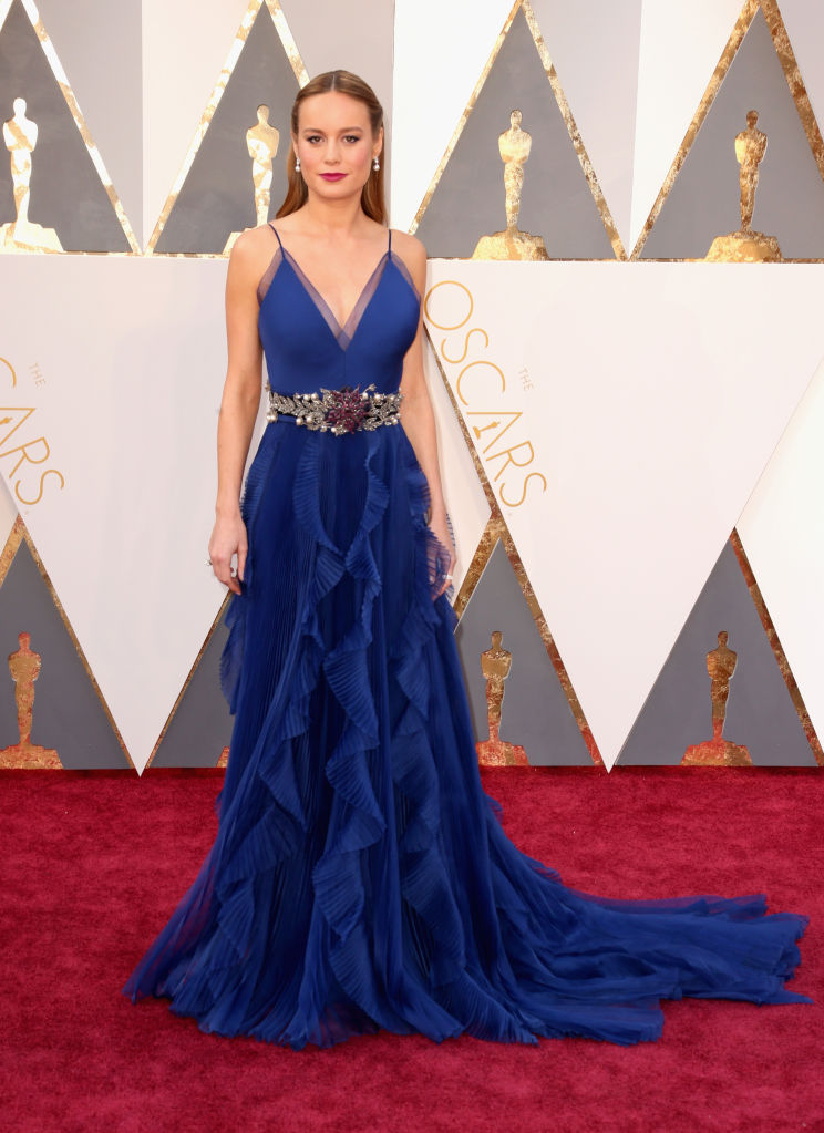 Brie Larson in a Gucci gown