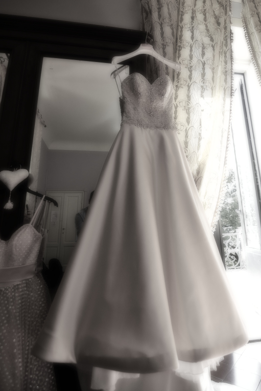 A picture of my wedding dress (picture by Alessandro Mayer)