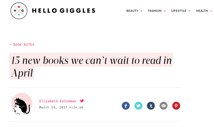 """Here's why we're REALLY excited to read Startup: Author Doree Shafrir writes for BuzzFeed and is entrenched in the tech world."" -Hello Giggles, March 2017"