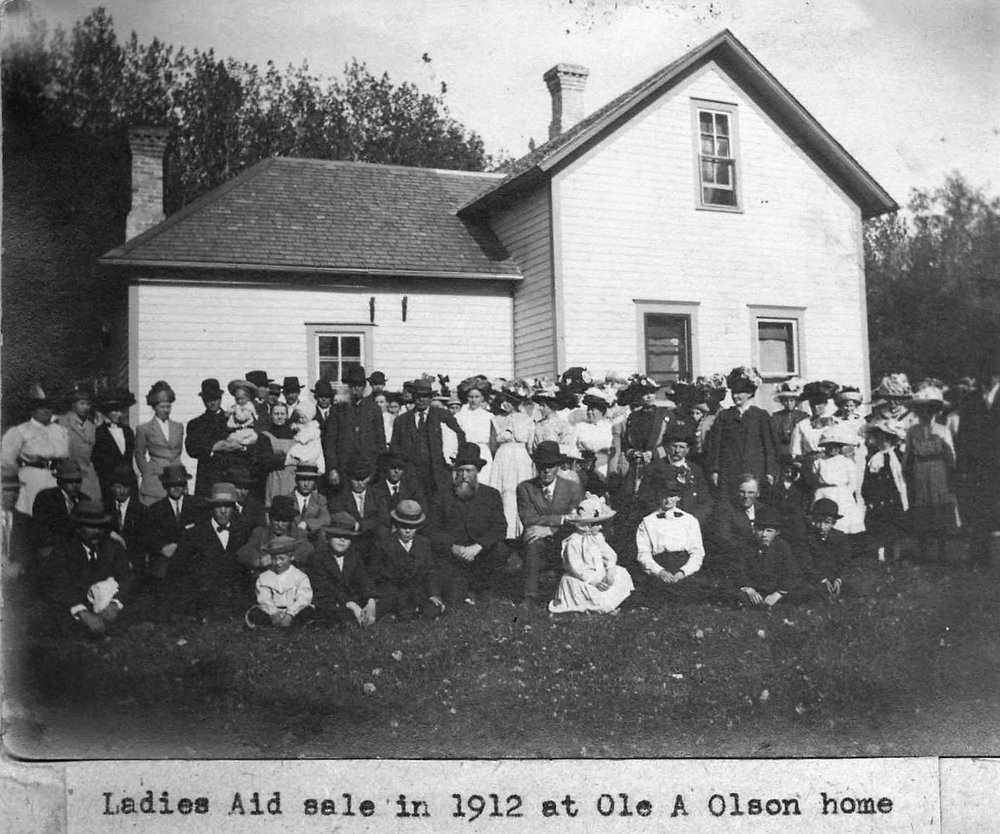 1912 Ladies Aid Sale at Ole A Olson home.jpg