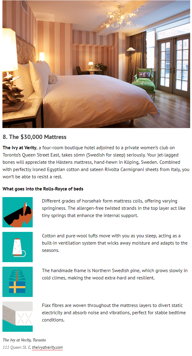 "Our memorable mattresses are featured in the April 2018 edition of enRoute magazine's, ""8 Ways Canadian Hotels are Helping You Sleep Better."""