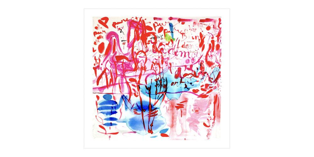 Anais de Contades - Painting on silk - Gouter le chemin vers l'inconscience
