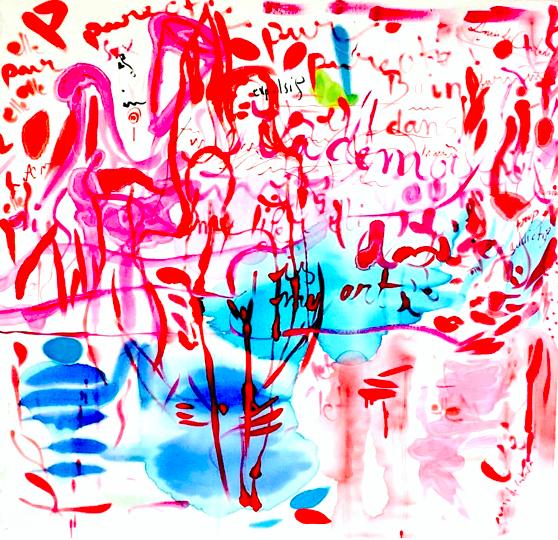 Anais de Contades - Gouter le chemin vers l'inconscience - Painting on silk.jpeg