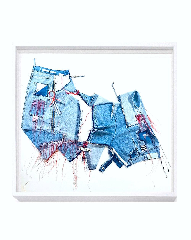 Anais de Contades - Asymmetrical Wo(man... so Off-White; they are blue
