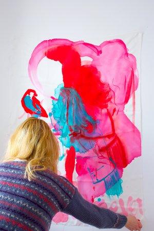 Anais de Contades in her studio.JPG