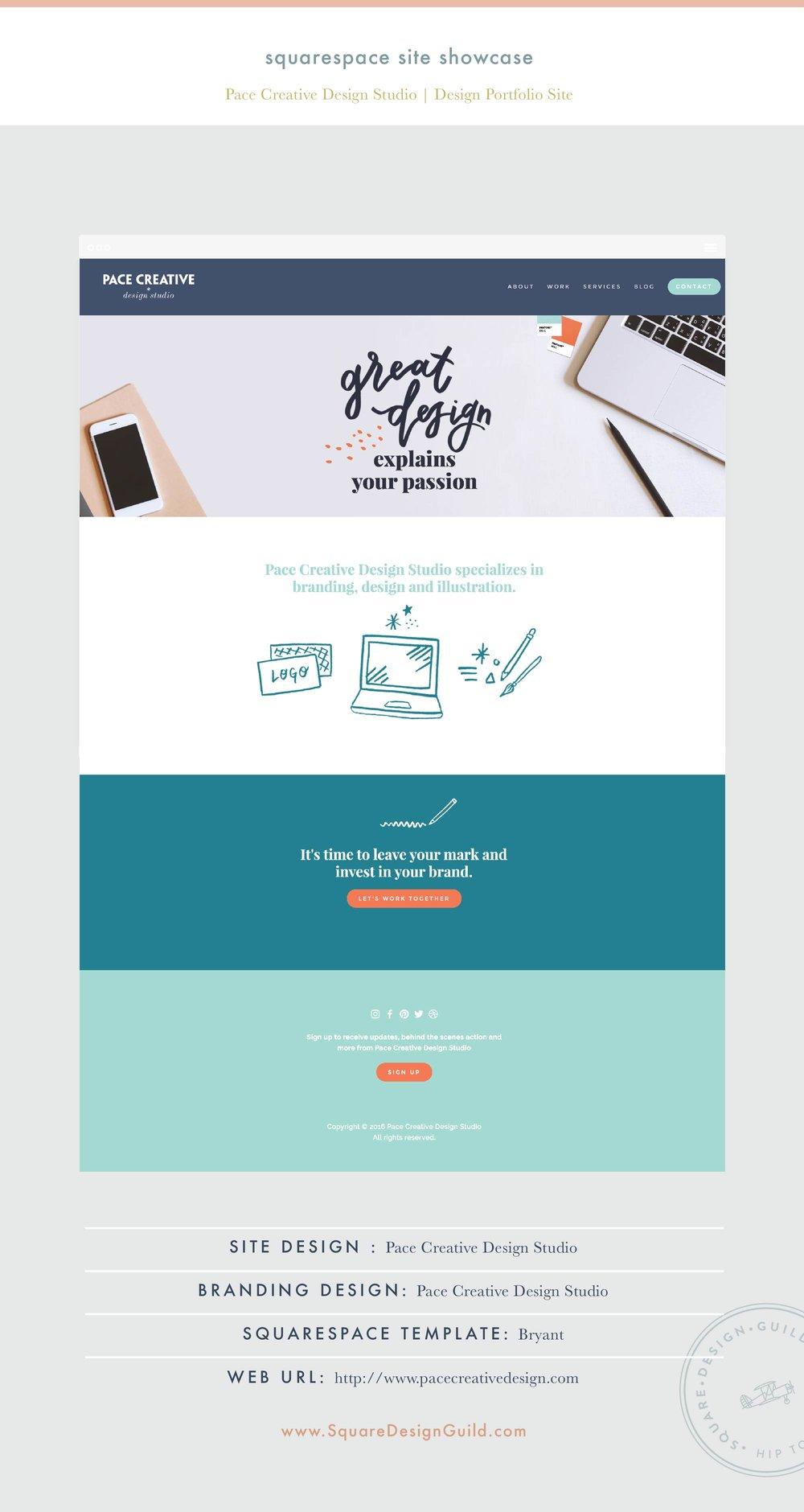Square Design Guild | Squarespace Site Showcase | Pace Creative Design Studio on the Bryant Template
