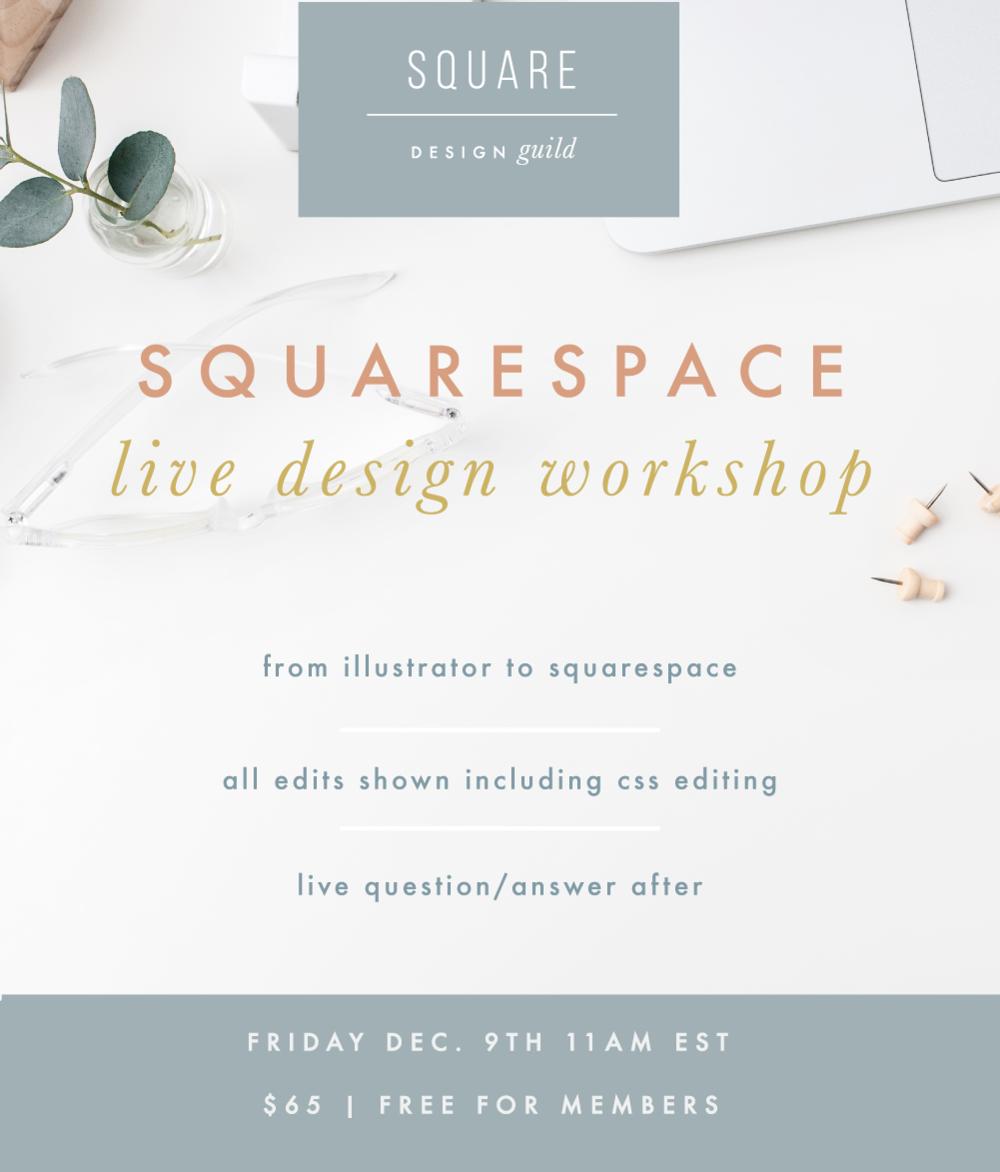 Live Workshop for Squarespace Design Guild