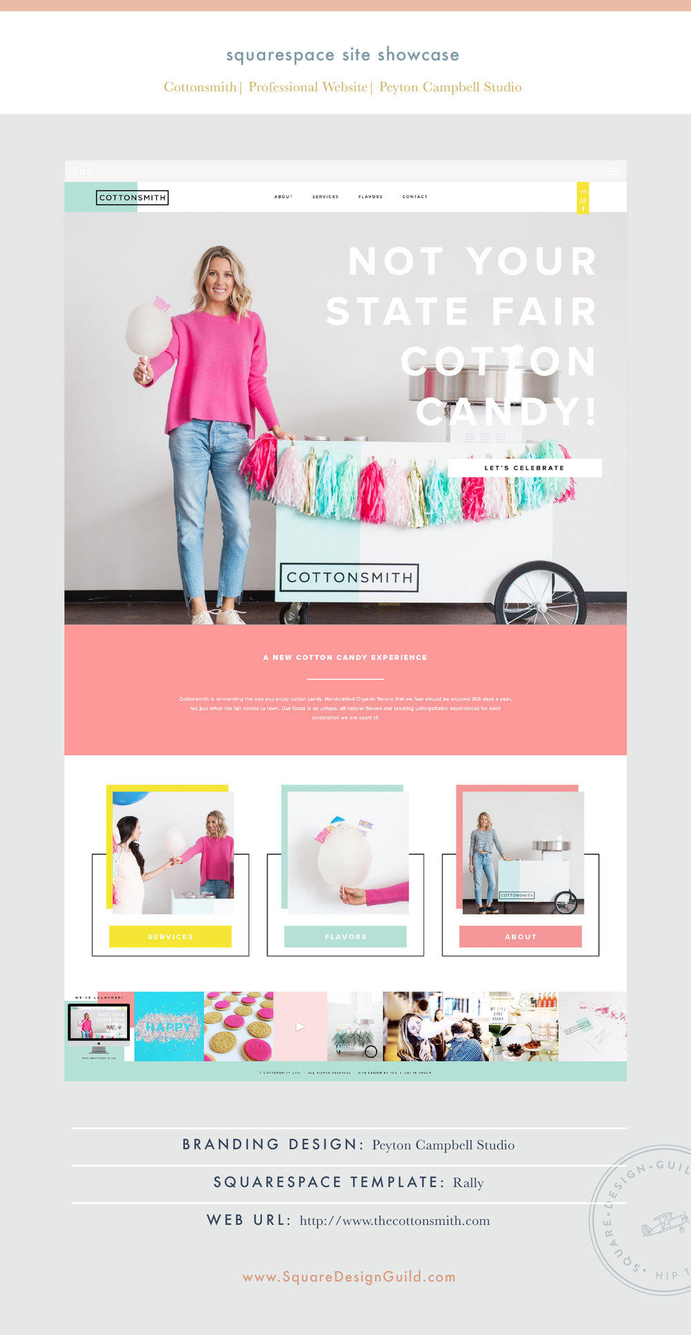 Square Design Guild | Squarespace Site Showcase: Cottonsmith | Professional Website on Rally
