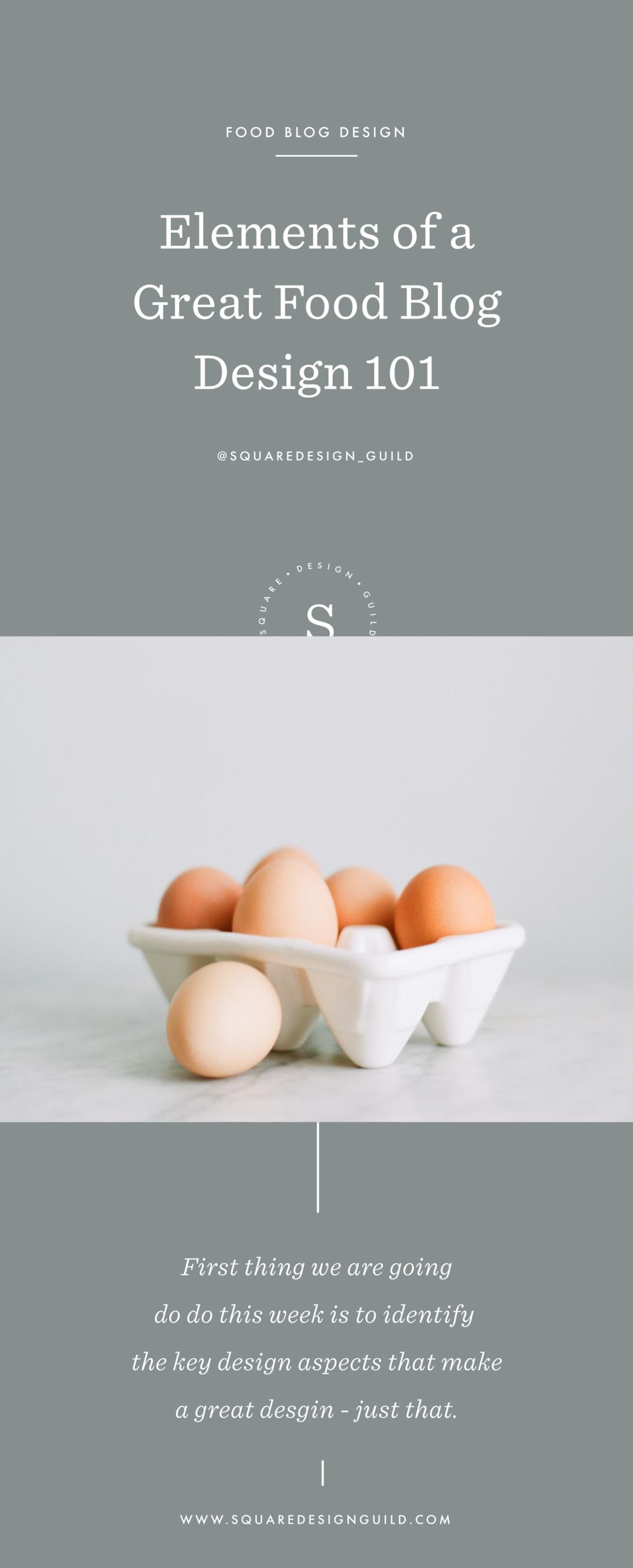 Food Blogging Design on Squarespace