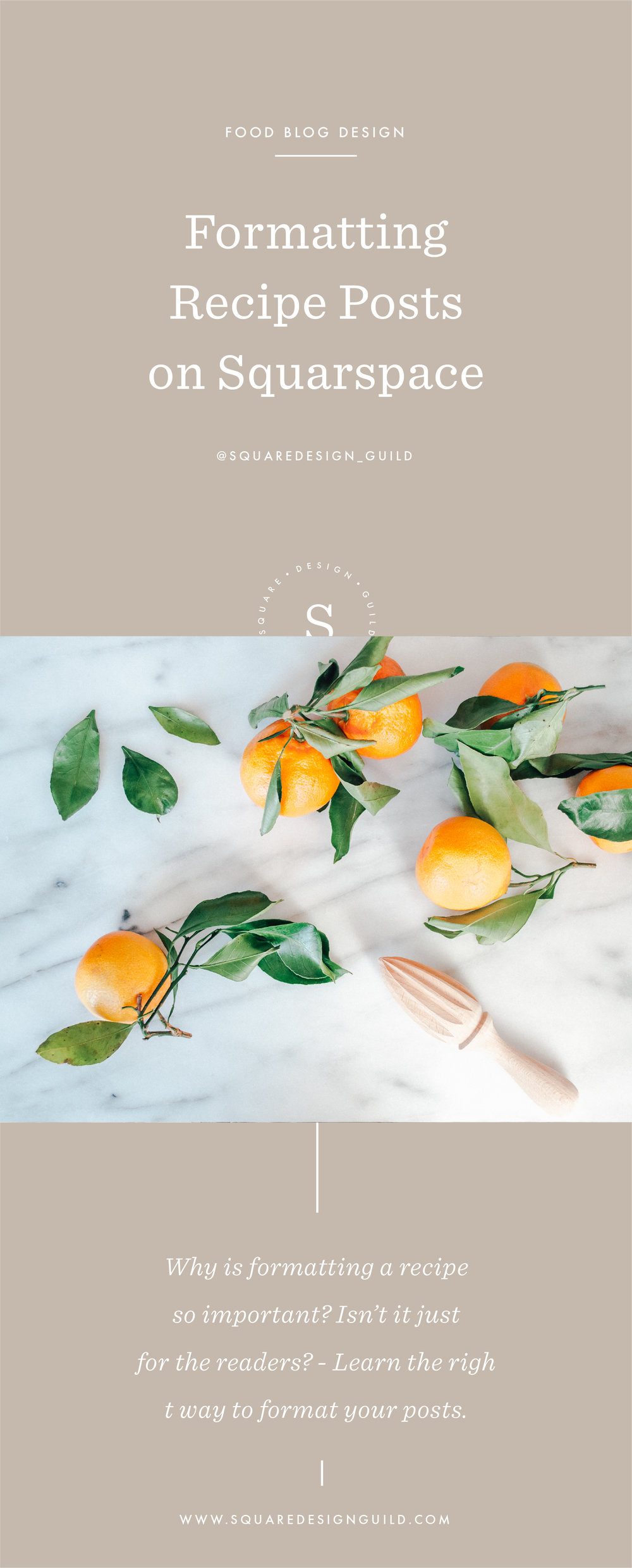 Recipe Post Formatting on Squarespace