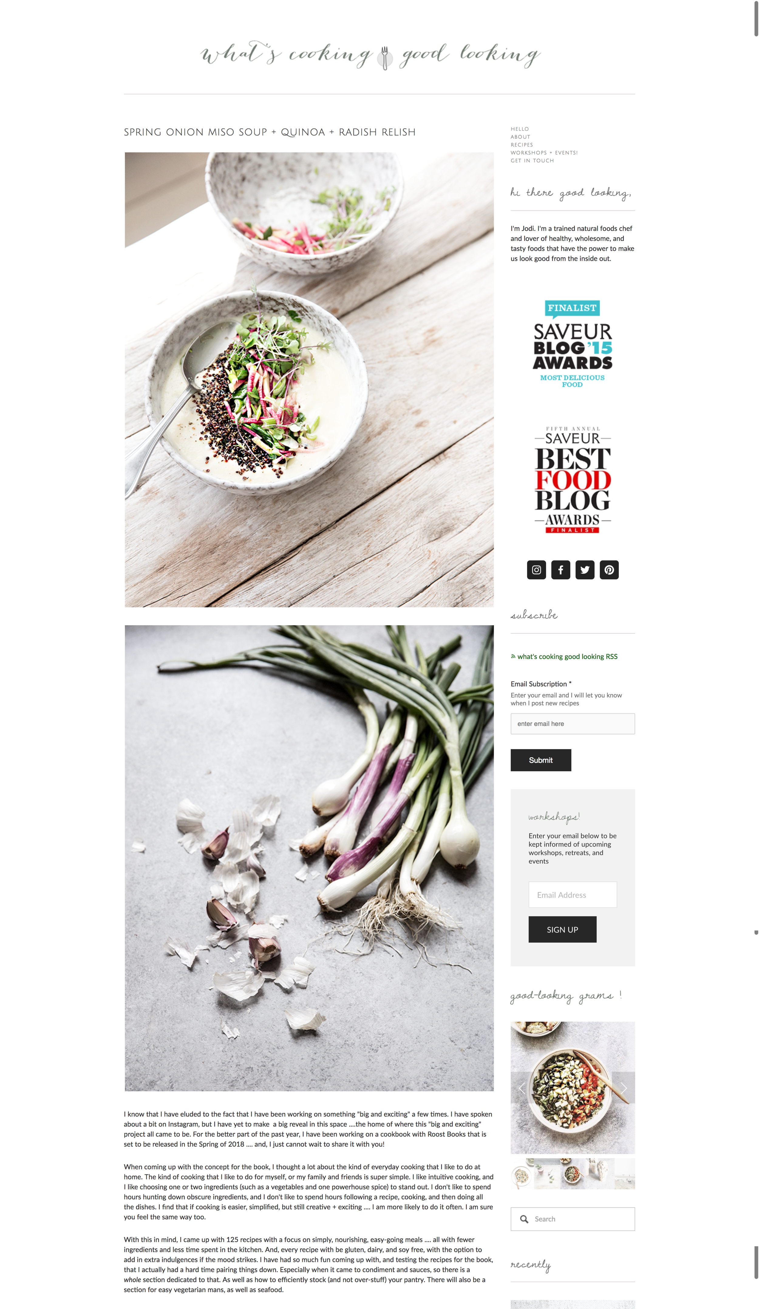 5 most successful squarespace food bloggers squarespace design guild whats cooking good looking forumfinder Gallery