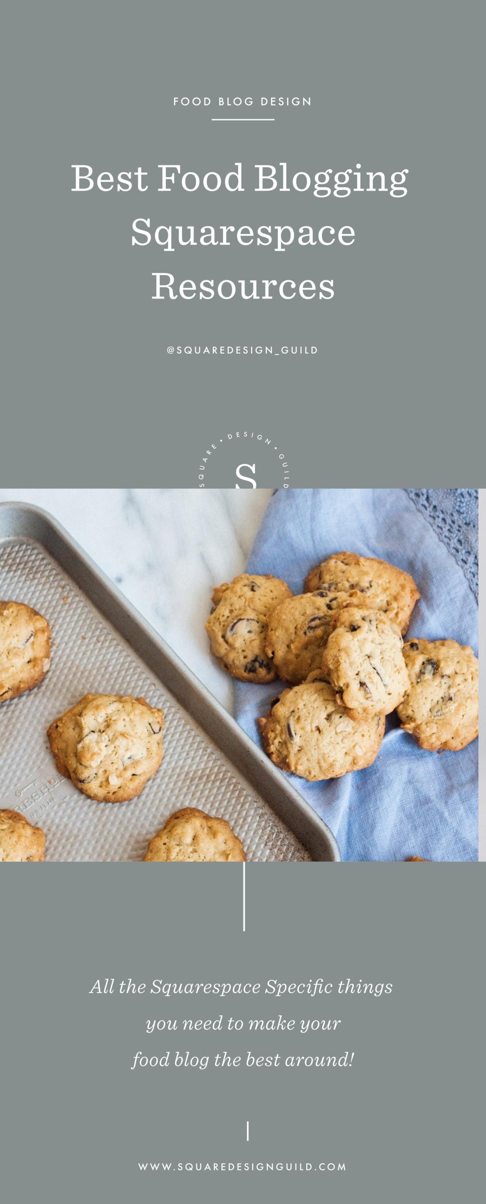 Squarespace Food Blogging Resources