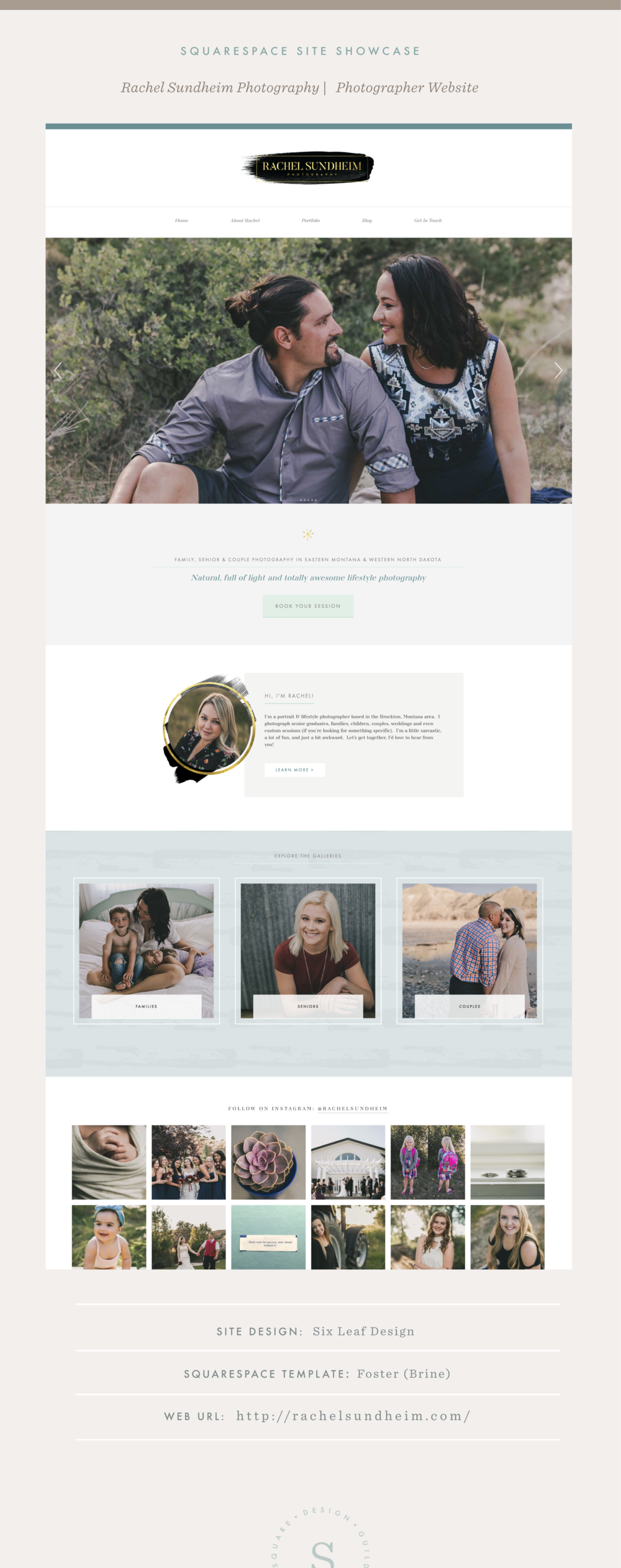 Squarespace Site Showcase | Rachel Sundheim Photography | Brine Template