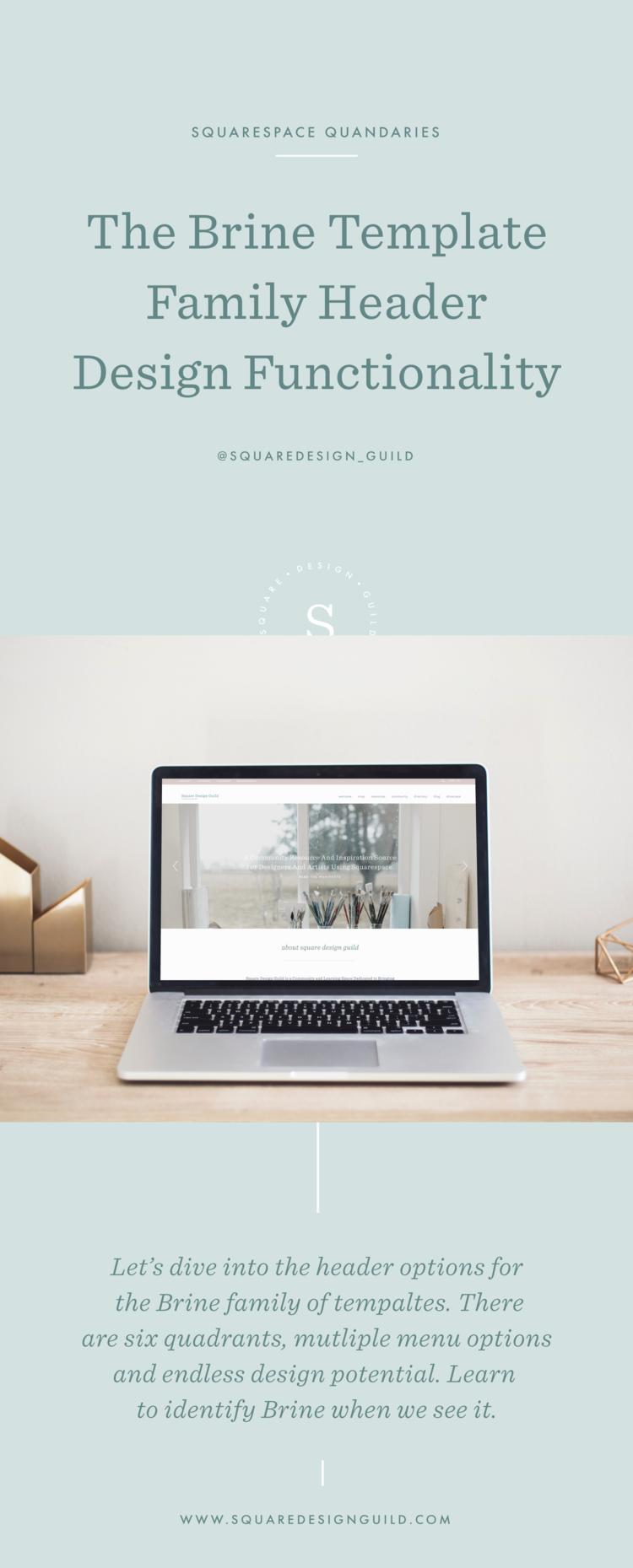 ss quandaries ep1 brine header design squarespace design guild