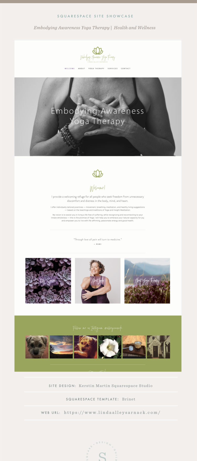 Site Showcase: Embodying Awareness Yoga Therapy — Squarespace Design ...