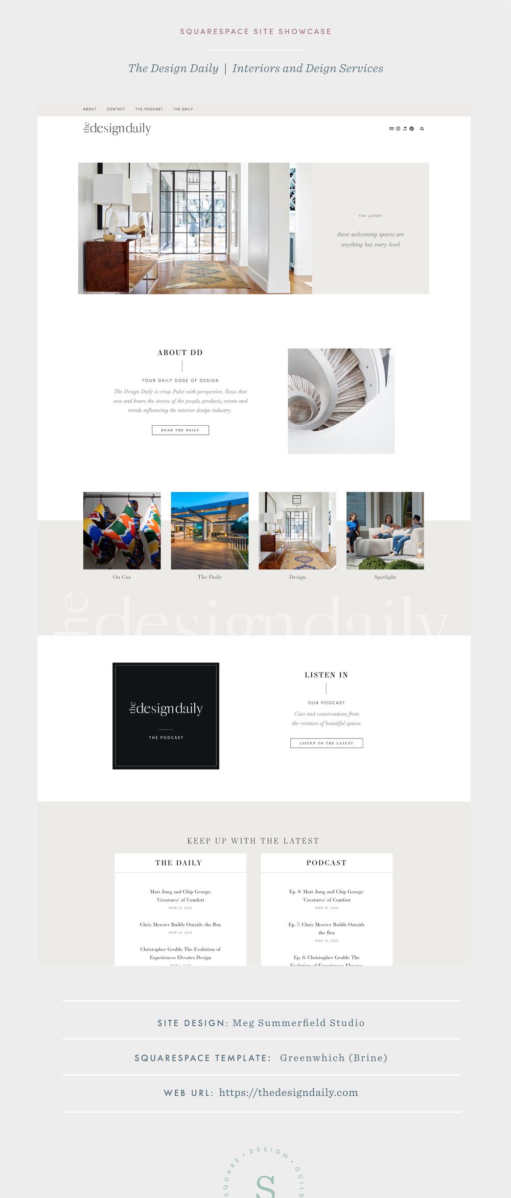 Site design for interior design blog on Squarespace