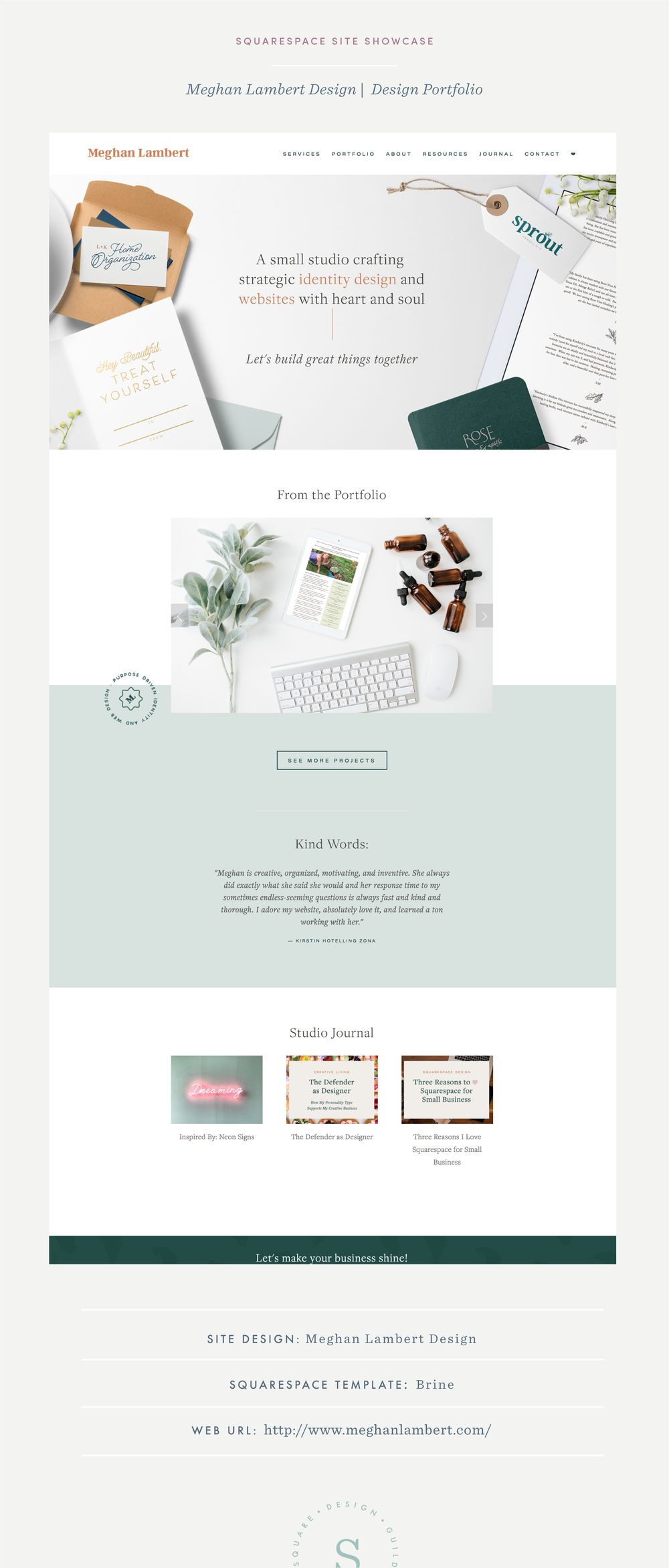 Designer Showcase on Squarespace with Fun Colors and Illustrations