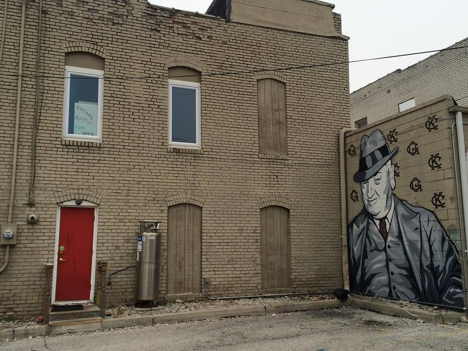 Alleyway in the Crossroads District of Kansas City, Missouri (Photo: T. Larsen, December 2015)