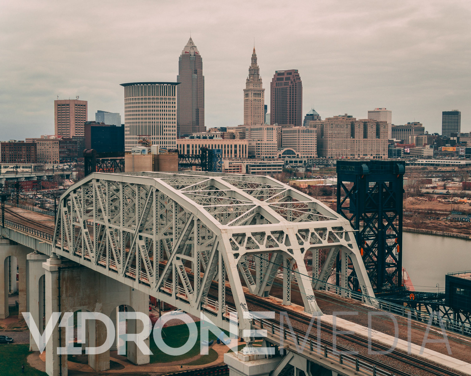 Cleveland Ohio From Above The West Bank Of The Flats Professional Drone Photography And Aerial Video Services