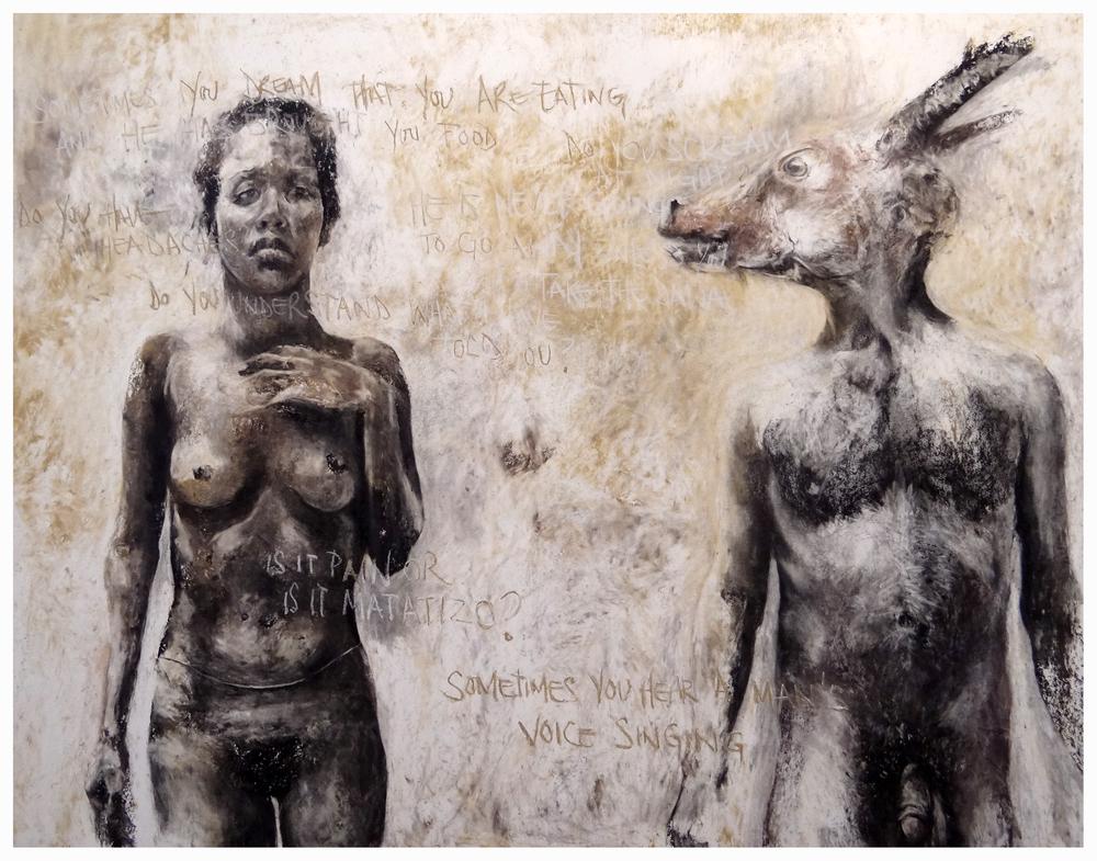 Matatizo  Pastel on paper  153cm x 122cm  2015