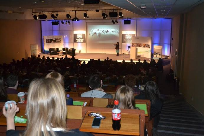 "Over 500 people attended the ""Making it HAPPEN"" conference at Aberdeen exhibition centre, including school pupils, students and business people - Nov 2013."