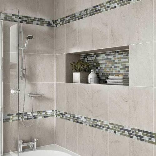 Framed In Shower Shelving Photo From Pinterest