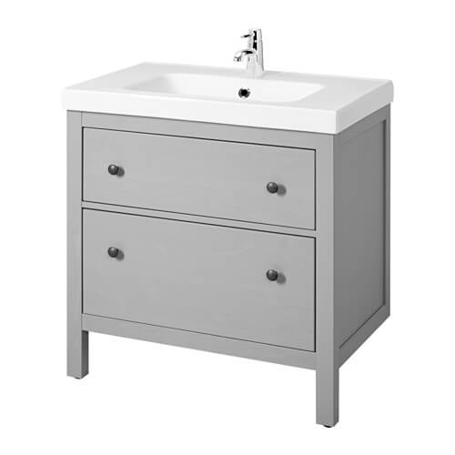 IKEA 30 Inch Bathroom Vanity With Sink And Drawer Storage