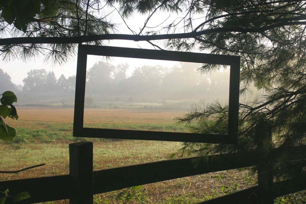 framed landscape in the windbreak