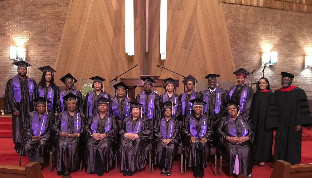 Victory Church St. Louis' Bible Study Program Graduating Class of 2018    Dean of Discipleship : Elder Dwayne Cotton