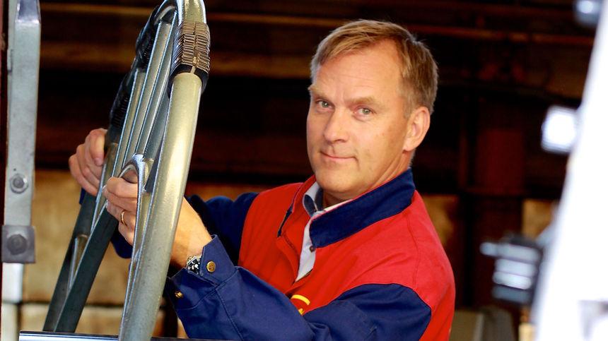"....""In a not too distant future, we will have a turnover of 1-2 billion SEK,"" says Anders Holm, CEO of Motala Verkstad. Photo: Henrik Lenngren..""På sikt hoppas vi kunna omsätta 1–2 miljarder kronor"", säger Anders Holm, vd för Motala Verkstad. Foto: Henrik Lenngren...."